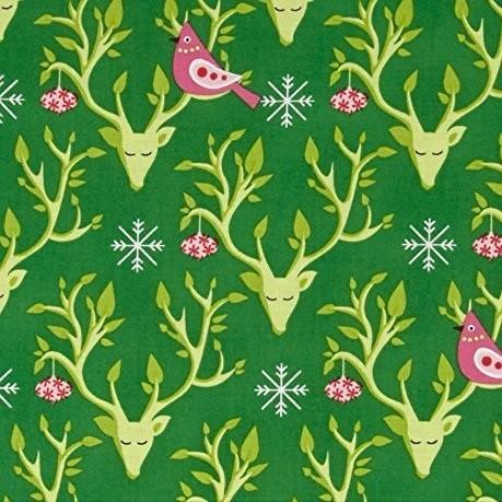 Michael Miller, Festive Forest Festive Nest green