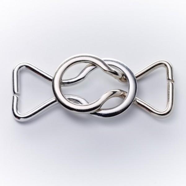 Bikiniverschluss, silber, 10 mm