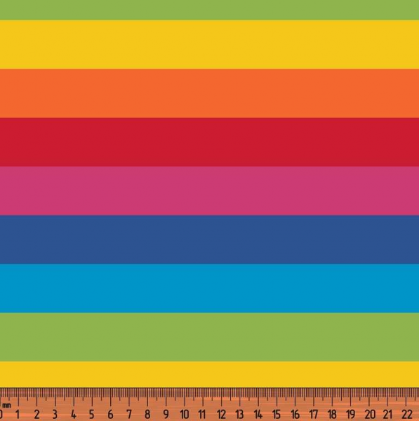Regenbogen-Blockstreifen bunt, Jersey