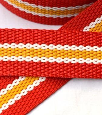 Gurtband, rot-gelb