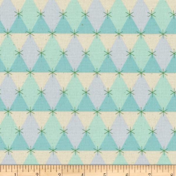 Cotton+Steel, Flutter Prism mint, Baumwollstoff