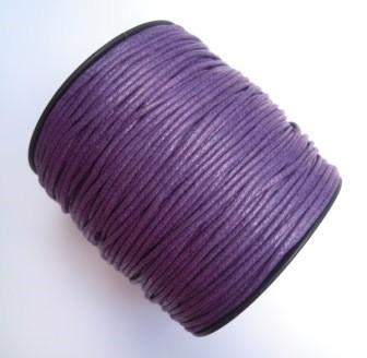 gewachste Baumwollschnur, 2mm, violett