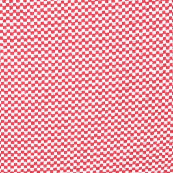 Ringelbündchen Mini-Karo, rot-weiß