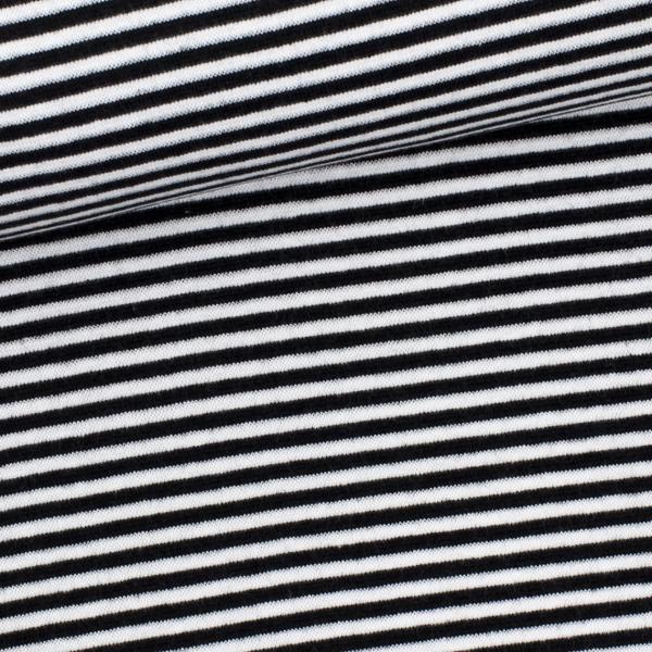 Ringelbündchen schwarz-weiß gestreift