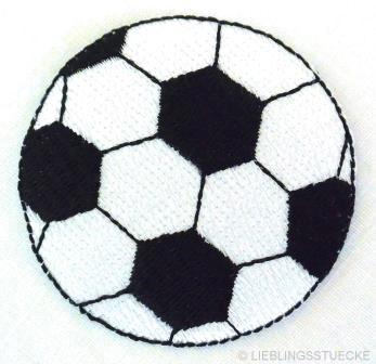 Applikation Fußball, schwarz
