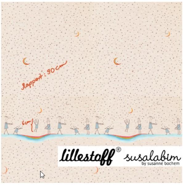 lillestoff, Mini Sternenstaub, beige-meliert, Jersey Paneel