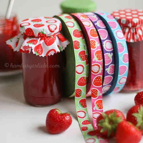 Strawberry Picking, lila, Webband *SALE*