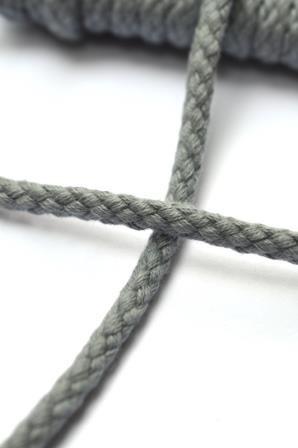 Flechtkordel, 4 mm, mittelgrau