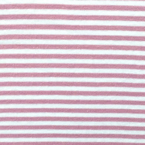 Florian, Ringelbündchen rosa-weiß, gestreift