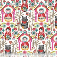 blendfabrics, Riding Hood Story weiß, Webstoff