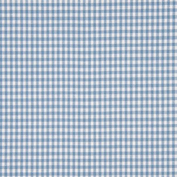 Vichykaro, klein, jeansblau-weiß kariert, waschbar bei 60°