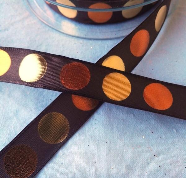 Metallic Dots, braun