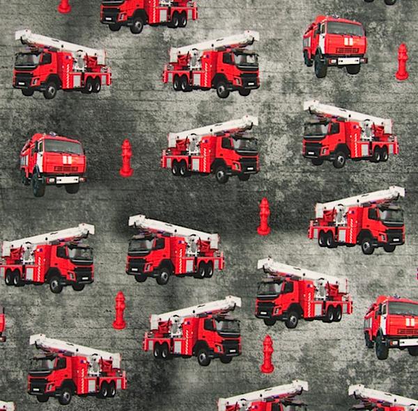 Digitaldruck Feuerwehrautos, Jersey