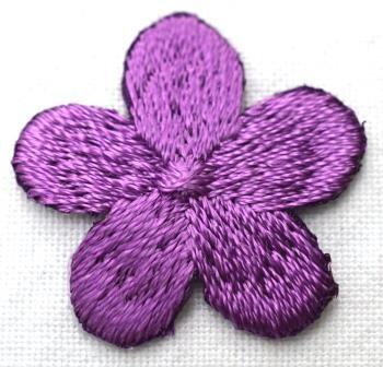 Applikation Blümchen, violett