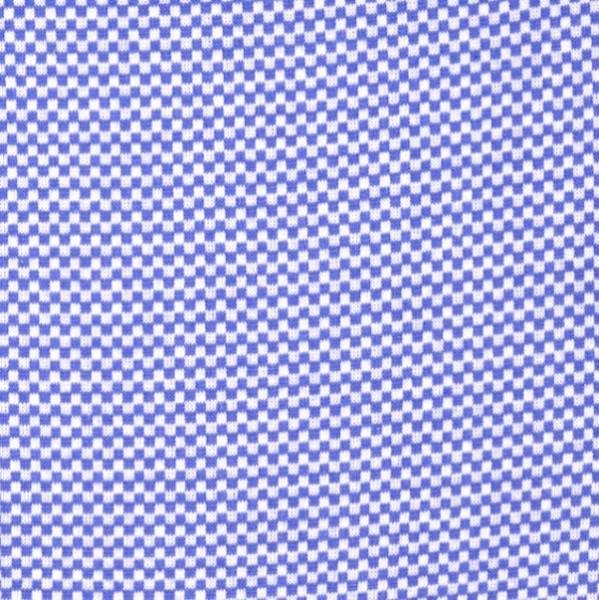 Ringelbündchen Mini-Karo, blau-weiß