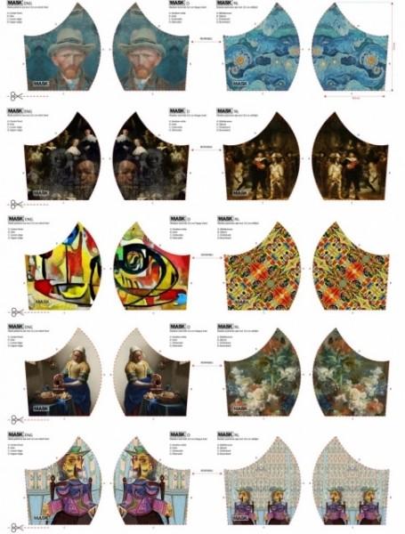 NEU! Maskenstoff Digitaldruck Van Gogh&Co für 10 Masken, Paneel, Baumwollstoff