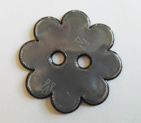 reflektierender, weicher Knopf, Blume, grau