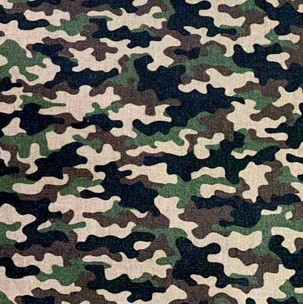Baumwollpopeline, Camouflage khaki/braun