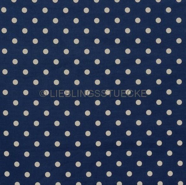 Lili Punkte mittel, dunkelblau, Webstoff