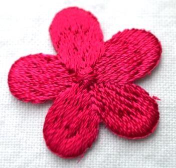 Applikation Blümchen, pink