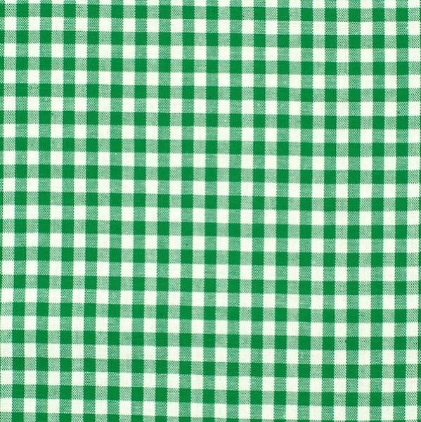 Vichykaro, mittel, grün-weiß kariert