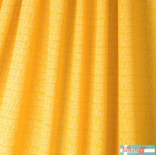 lillestoff Bio-Jaquardstrick Luiaard Waves gelb