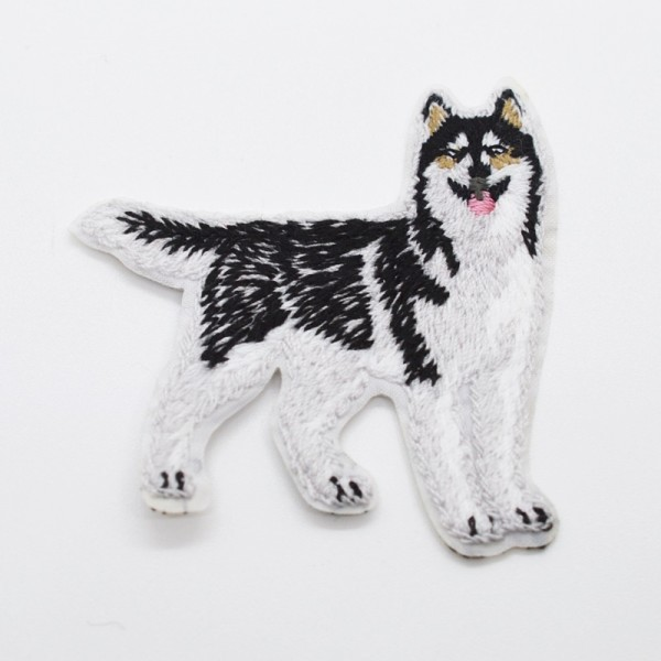 Applikation Hund schwarz-grau