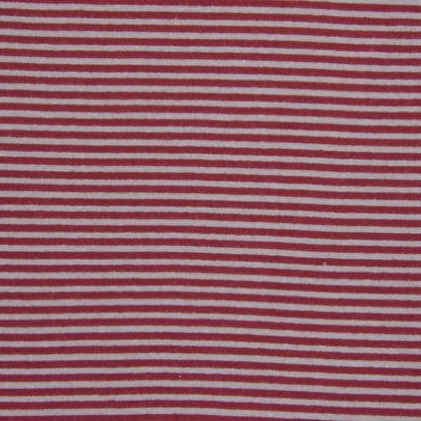 Ringelbündchen grau-bordeaux gestreift