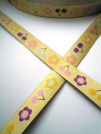 Sommerfrische, gelb, Webband