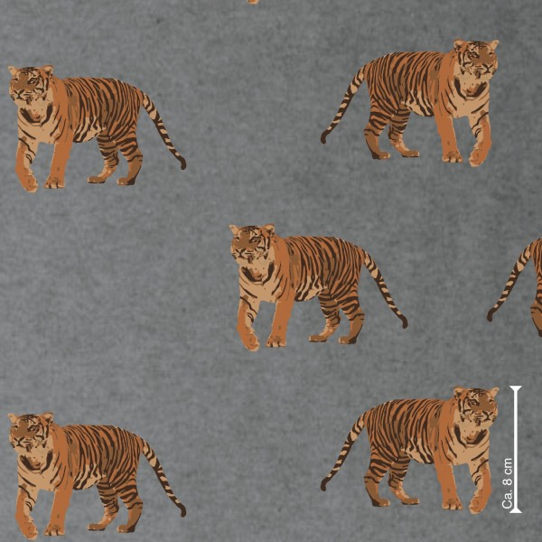 lillestoff, Tiger in the City grau meliert, Bio-Summersweat