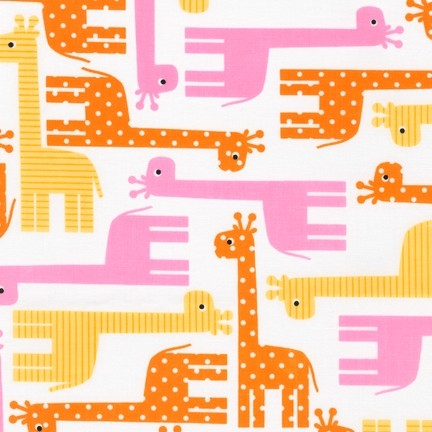 R. Kaufman, Urban Zoologie Giraffen rosa-gelb