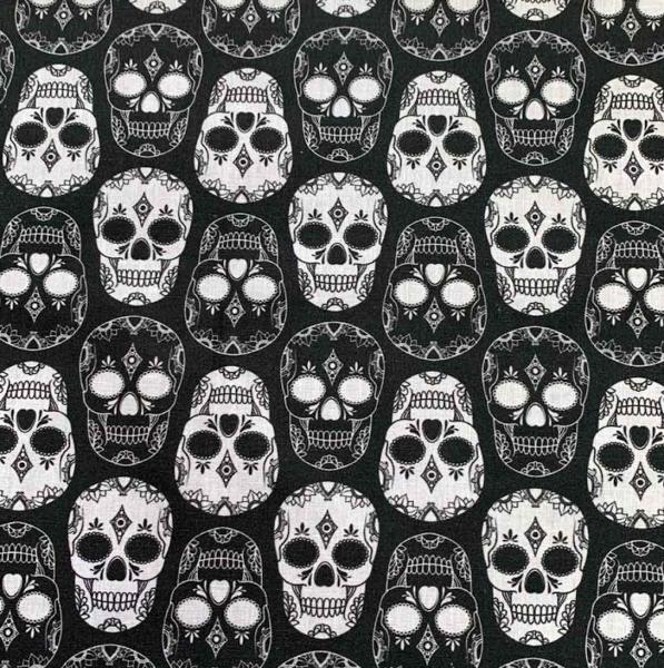 Skulls black&white, Webstoff