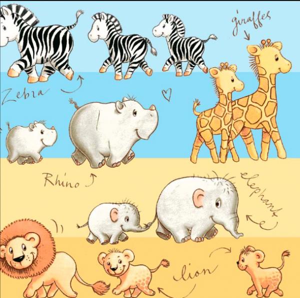 Tiere In Afrika, Webstoff