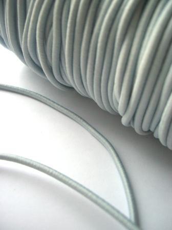 Gummischnur, 3 mm, hellgrau