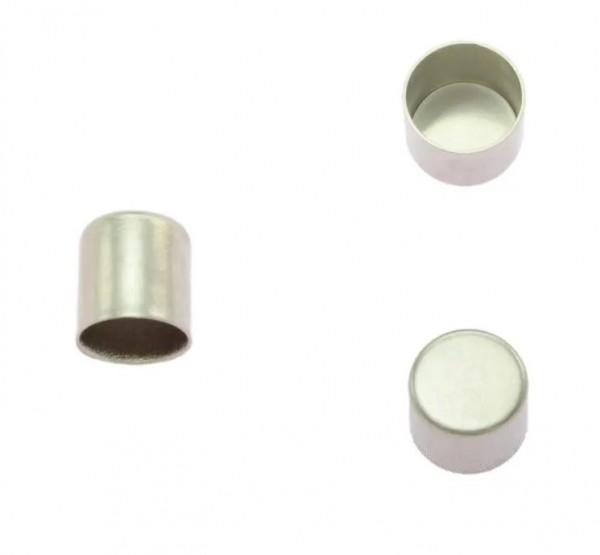 Kordelendkappe, silber, 6 mm