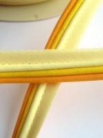 Paspelband, dreifärbig, gelb