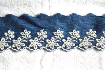 Stoffspitze, jeansblau, 60 mm