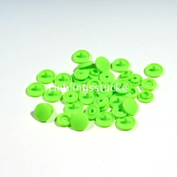 KAM Snaps, 10 Stück Packung, Neongrün - 50