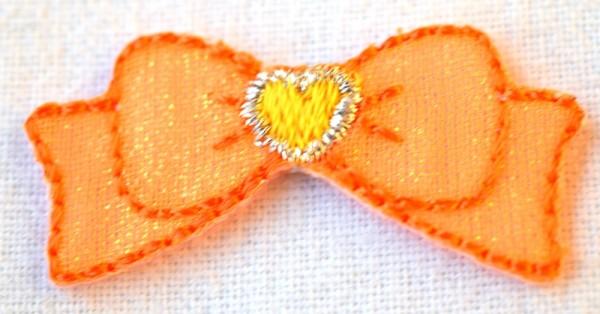 Applikation Masche, orange