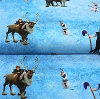 Digitaldruck, Frozen Kristoff und Olaf, Jersey, *SALE*