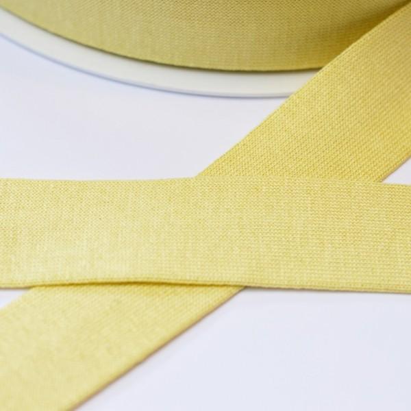 Viskosejersey-Schrägband, hellgelb