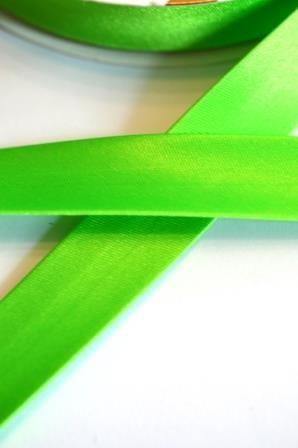 Neon-Satinschrägbänder, grün