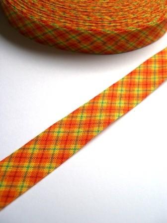Westfalen Schrägband, karo orange-grün