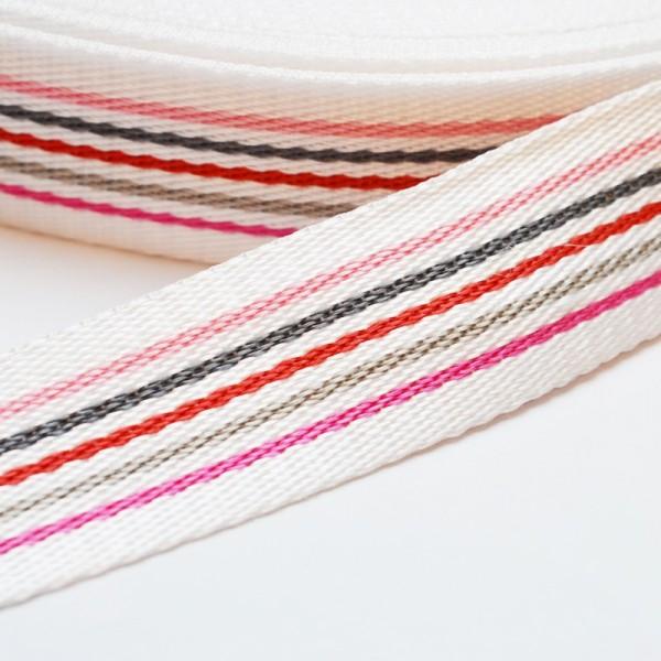 Gurtband, Multi-Streifen rosa-grau