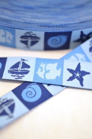 Am Meer, blau, Webband