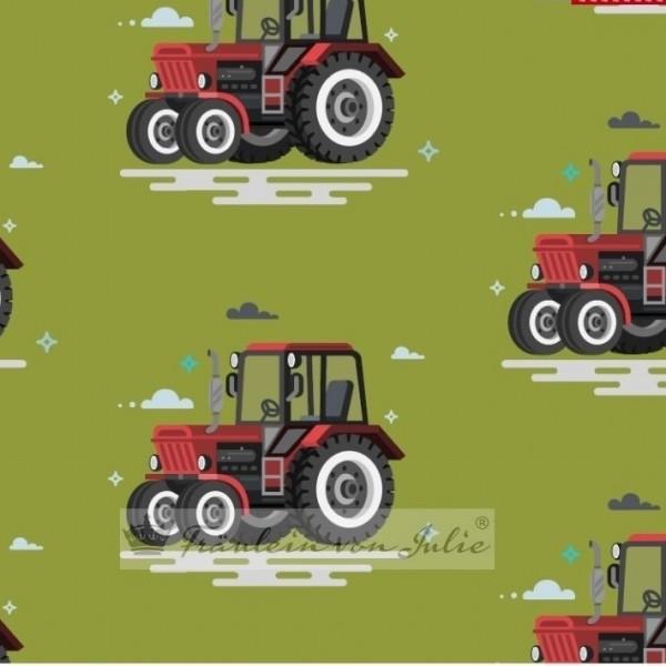 Fräulein von Julie, Traktor rot auf grün, Kuschelsweat