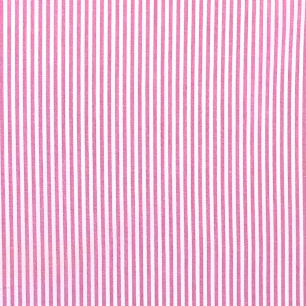 Feiner Streifenstoff pink-weiß, Yarn Dyed