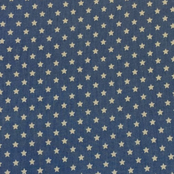 Sommerjeans mittleres jeansblau mit Mini-Stars
