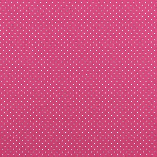 Lili Punkte klein pink, Webstoff, waschbar bei 60°