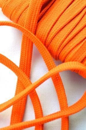 flache Kordel, orange